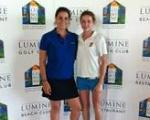 Carlos Pigem and Eva Domingo, Lumine Golf player, winning the ,Campionat de Catalunya,