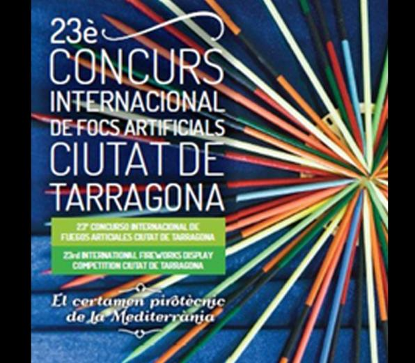 Fireworks Competition in Tarragona, castle.