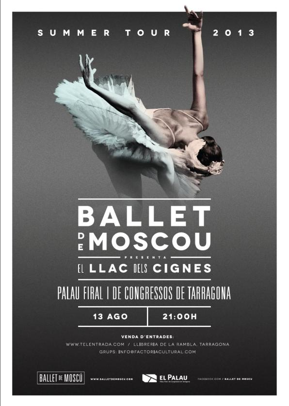 Poster for the show, Moscow Ballet in Tarragona.